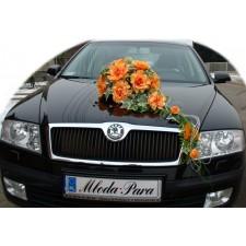 """Dekoracja samochodu """"Pomarańczowa dama"""""""